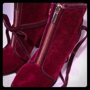Beautiful velvet booties